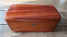 "Vintage 1937 Lane Cedar Chest Jewelry Box 9"" x 4"" x 4"""