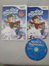 We Ski & Snowboard (Nintendo Wii, 2009) Cib