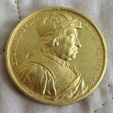 Rey Eduardo IV 1441 - 1483 medalla de color oro 40 mm de reproducción Dassier