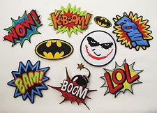 BATMAN JOKER POW KABOOM BAM WOW BOOM LOL Iron Sew On Embroidered Patch