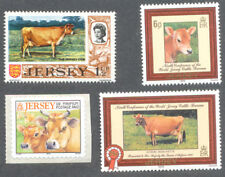 Cows 4 diff mnh- Jersey Cows-Farm Animals