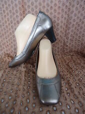 AIRFLEX KAROL Size US10 LEATHER PEWTER Shoes Ladies Medium Heels NEW #3012