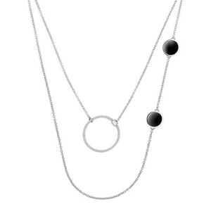 Calvin Klein Women Agile Stainless Jewelry  Necklace 2 Styles of Wearing NEW