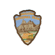 Official Badlands National Park Souvenir Patch South Dakota Arrowhead Iron on