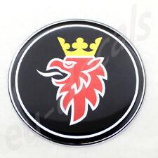 50mm/2.00inc SAAB BLACK Griffin Chrome Hood Badge Emblem aero 9-5 9-3 3D decal