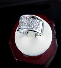 Men Elegant Designer 14K White Gold Finish Lab Diamond Pinky Band Fashion Ring