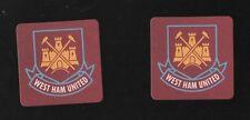 WEST HAM UNITED pack of Beer Mats Hammers & Boleyn Crest FREE POSTAGE UK