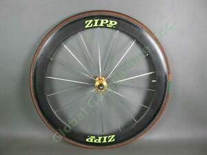 "Single Zipp 400 Speed Weaponry Carbon Fiber Bike Wheel Continental ZA 26"" Tire"