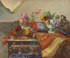 Bouquets of Flowers Paul Gauguin Fine Art Interior Print on CANVAS Repro Small