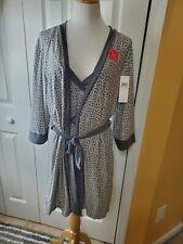 Marilyn Monroe Sleepwear, Pink & Black, 2 piece set, Slip and Robe size L