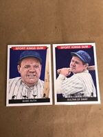 SPORT KINGS VOLUME 2 BABE RUTH & SULTAN OF SWAT SSP SP CARD LOT OF 2 CARDs #52