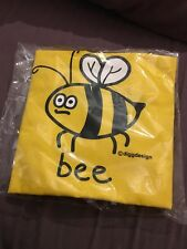 Yellow Bee Cotton Tote Bag