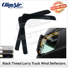 CLIMAIR Black Tint Truck Wind Deflectors PEUGEOT BOXER 2006 onwards FRONT