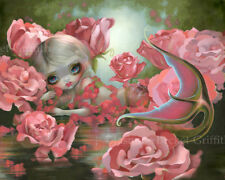 Jasmine Becket-Griffith art BIG print SIGNED Mermaid with Roses