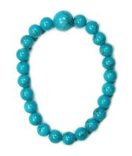Bracelet 8mm Bead Dyed Howlite (Turquoise)