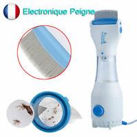 Peigne Anti-Poux Électrique + 3 Filtre Chimique Poux Détecte Tue la Tête Neuf FR