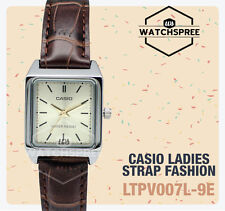 Ladies Casio Watch Ltp-v007l-1e Analog Stainless Steel Leather Band Express Post