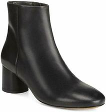 Vince Women's Tillie Solid Round Toe Ankle Boots Black Leather US 8.5M