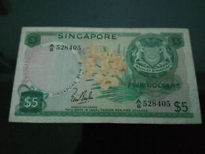 Singapore Orchid $5 LKS note