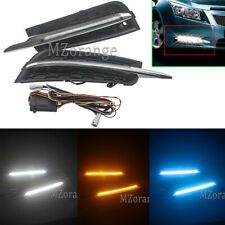 For 2011-2014 Chevy Cruze DRL Fog Driving Daytime Running Light Turn Signal Lamp