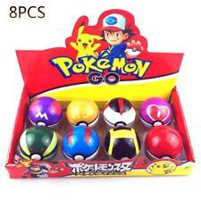 Pokemon spielzeug 8 stücke pokeball+8 stücke pop-up ball pikachu kinder geschenk