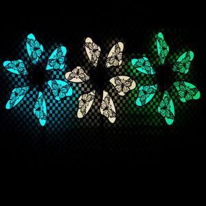 Luminous Metal Butterfly Windmill Garden Art Decor Wind Spinner Yard Sculpture