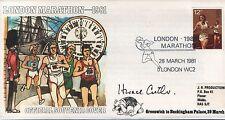 1981 1st London Marathon official souvenir signed Sir Horace Cutler, Race Chair