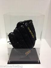 Baseball Glove Display Case Deluxe - Acrylic Perspex - BLACK
