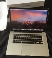 "Apple MacBook Pro 15"" Display Retina 2GHz i7 256 GB 8 GB A1398 fine 2013"