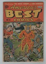 Nedor 1945 AMERICA'S BEST COMCS No. 13 GD/VG 3.0 to VG- 3.5 Schomburg WWII Cover
