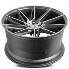 "4ea 20"" Staggered Verde Wheels V25 Quantum Matte Graphite Machined Rims (S2)"