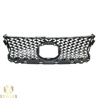 Gray Black Upper Front Grille Grill For 14-16 Lexus IS 200t 250 350 F Sport New