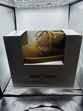 MINNETONKA Barry Boot Moccasin Slippers TAN Men's Size 12 New with box