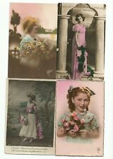 Lot 4 Carte Postales  Fantaisies