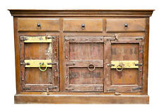 Recycled Timber Indian Antique Door Sideboard Buffet Storage Statement Eclectic