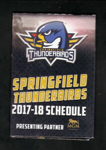 Springfield Thunderbirds--2017-18 Pocket Schedule--Panthers Affiliate