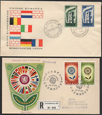 ✔️ LUXEMBOURG LUXEMBURG 2 NICE FDC COVERS