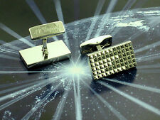"Dupont Cufflinks ""Black Rain"" with 72 Black Diamonds NEW! MSRP $4,350"