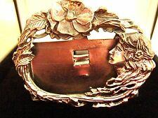 Solid Silver Art Nouveau Edwardian style lady small photo frame wedding gift New
