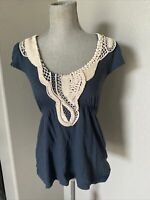 Anthropologie Yoana Baraschi Women's blue Top Embellished sequin Size small
