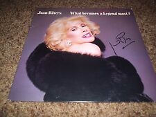 """JOAN RIVERS SIGNED ALBUM TITLED """"WHAT BECOMES A SEMI LEGEND MOST?"""" RARE! R.I.P!!"""