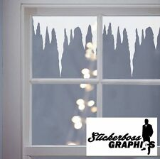 Christmas Decoration ICICLES Window Stickers Decals Vinyl Xmas snow ice 1 METER