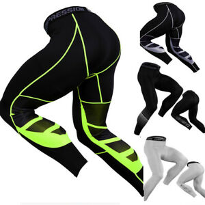 Men Gym Leggings Trousers Mens Sport Fitness Running Yoga Compression Pants Size