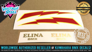 ELINA BMX & LIGHTNING BOLT BMX Seat Decal Sticker Set Combo - Black or Blue Seat
