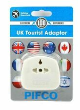 INT, EU, US to UK 3 Pin Tourist Travel Power Plug Holiday Adaptor With 13A Fused