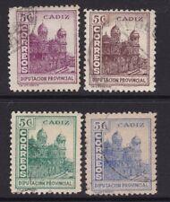 ESPAÑA - GUERRA CIVIL - CADIZ - DIPUTACION PROVINCIAL CATEDRAL - EDIFIL 88/91