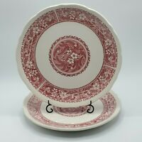 "Set of 2 Vintage Syracuse China 10"" Strawberry Hill Dinner Plates 1980's  22-B"