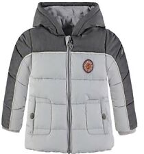 12 Months Boys Kanz Grey City Tours Padded Hooded Winter Jacket Coat