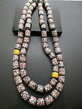 Red Dot Eye Antique Matching Venetian Millefori Yellow Black African Trade Beads