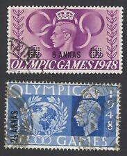 Bpaea Kgvi 1948 Olympics 2 1/2a & 6a used in Bahrain (2)